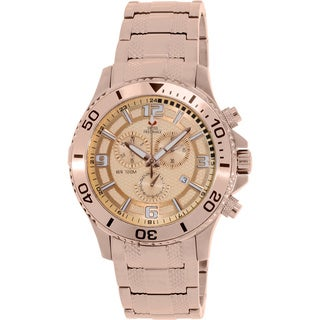 Swiss Precimax Men's 'Tarsis Pro' Rose Goldtone Swiss Chronograph Watch