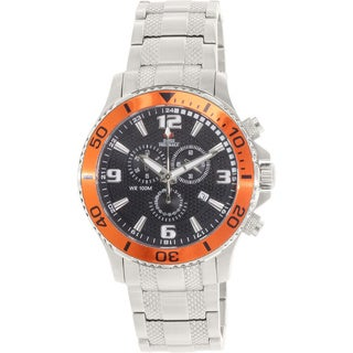 Swiss Precimax Men's 'Tarsis Pro' Orange Bezel Swiss Chronograph Watch