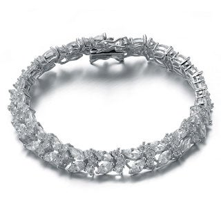 Collette Z Sterling Silver Cubic Zirconia Classic Bracelet