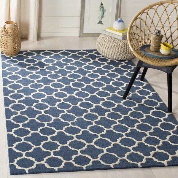 Safavieh Handmade Cambridge Moroccan Navy Indoor Wool Rug (8' x 10')