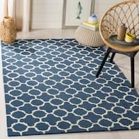 Safavieh Handmade Moroccan Cambridge Navy Wool Rug - 9' x 12'