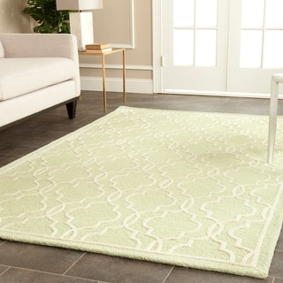 Safavieh Handmade Cambridge Moroccan Light Green Wool Rug with Canvas Backing (8' x 10')