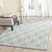 Safavieh Handmade Cambridge Moroccan Silver Cotton-Canvas Wool Rug - 8' x 10'