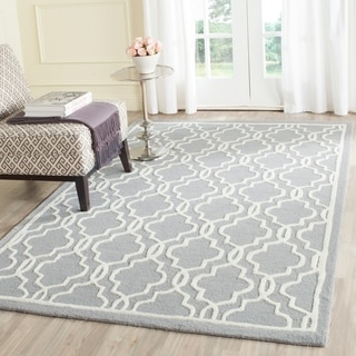 Safavieh Traditional Handmade Moroccan Cambridge Silver Wool Rug (9' x 12')