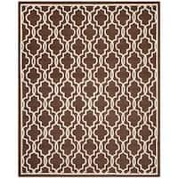 Safavieh Handmade Moroccan Cambridge Dark Brown Wool Rug - 6' x 9'