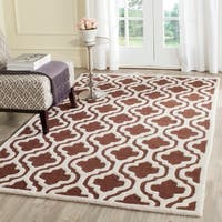 Modern Safavieh Handmade Cambridge Moroccan Dark Brown Wool Rug - 9' x 12'