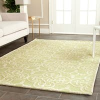 Safavieh Handmade Cambridge Moroccan Light Green Cotton-Canvas Wool Rug - 9' x 12'