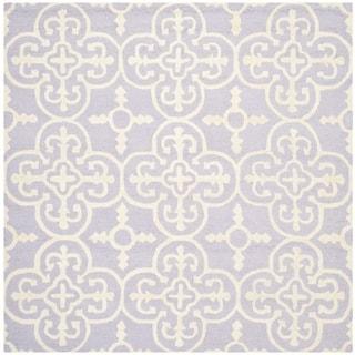 Safavieh Handmade Moroccan Cambridge Lavender Wool Area Rug (6' Square)