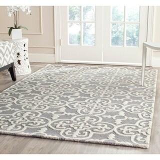 Safavieh Handmade Moroccan Cambridge Silver 100-percent Wool Rug (6' x 9')