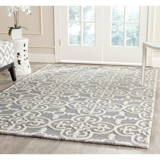 Safavieh Handmade Moroccan Cambridge Oriental Blue/ Silver Wool Rug (9' x 12')|https://ak1.ostkcdn.com/images/products/7941789/P15316275.jpg?impolicy=medium