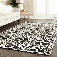 Safavieh Handmade Cambridge Moroccan Black Wool Rug with Canvas Backing - 6' x 9'