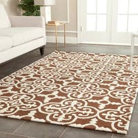 Safavieh Handmade Cambridge Moroccan Dark Brown Geometric Wool Rug - 8' x 10'