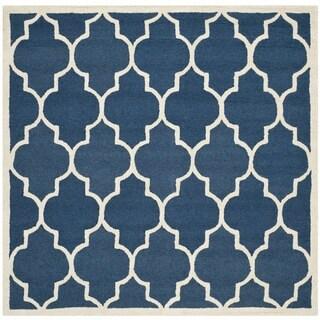 Safavieh Handmade Moroccan Cambridge Navy Wool Area Rug (6' Square)