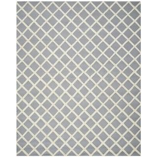 Safavieh Handmade Cambridge Moroccan Silver Crisscross Pattern Wool Rug (6' x 9')