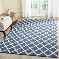 Safavieh Handmade Cambridge Moroccan Crisscross Pattern Navy Wool Rug - 6' x 9'