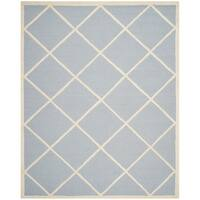 Safavieh Handmade Cambridge Moroccan Light Blue Diamond Pattern Wool Rug - 6' x 9'