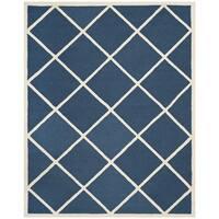 Safavieh Handmade Cambridge Moroccan Indoor Navy Wool Rug - 6' x 9'