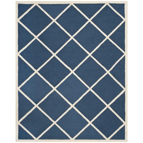 Safavieh Handmade Cambridge Moroccan Indoor Navy Wool Rug (6' x 9')