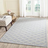 Safavieh Handmade Cambridge Moroccan Diamond-Pattern Light Blue Wool Rug - 8' x 10'