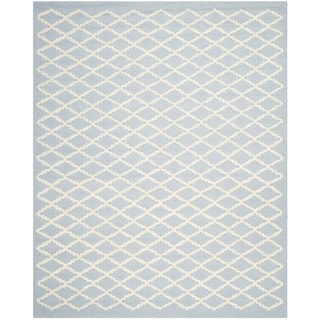 Safavieh Handmade Cambridge Moroccan Diamond-Pattern Light Blue Wool Rug (8' x 10')