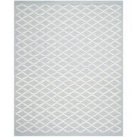 Safavieh Handmade Cambridge Moroccan Diamond-Pattern Light Blue Wool Rug - 8' x 10'