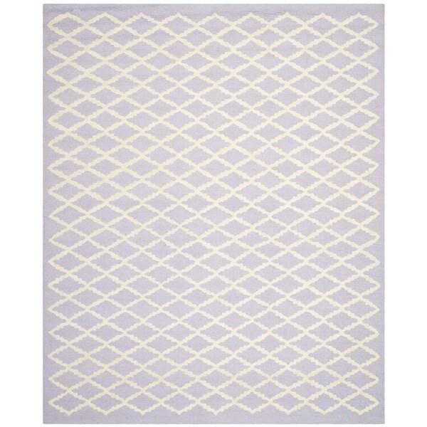 Safavieh Handmade Cambridge Moroccan Lavender Trellis-Patterned Wool Rug - 8' x 10'