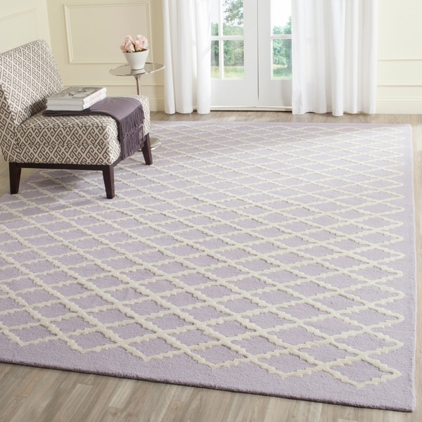 Safavieh Handmade Cambridge Moroccan Lavender Trellis-Patterned Wool Rug - 8' x 10'