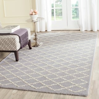 Safavieh Handmade Cambridge Moroccan Silver Contemporary Wool Rug (6' x 9')
