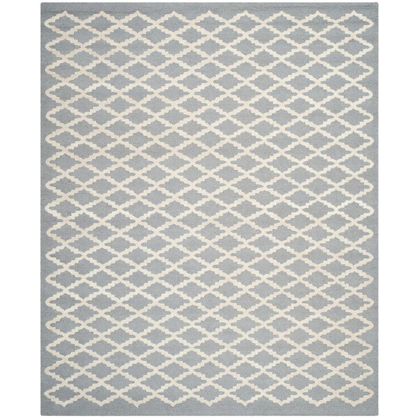 Safavieh Handmade Cambridge Moroccan Silver Latex Wool Rug - 8' x 10'