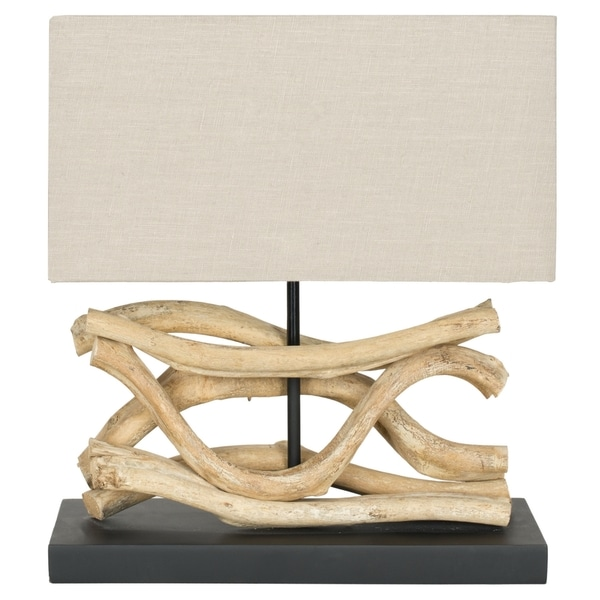 Safavieh Lighting 16-inch Laguna Bleached Wood Vine Lamp