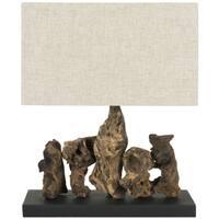 Safavieh Lighting 13.8-inch Aragon Natural Root Wood Table Lamp