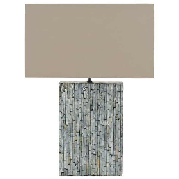 Safavieh Lighting 16.5-inch Lina Blue Mother Of Pearl Table Lamp