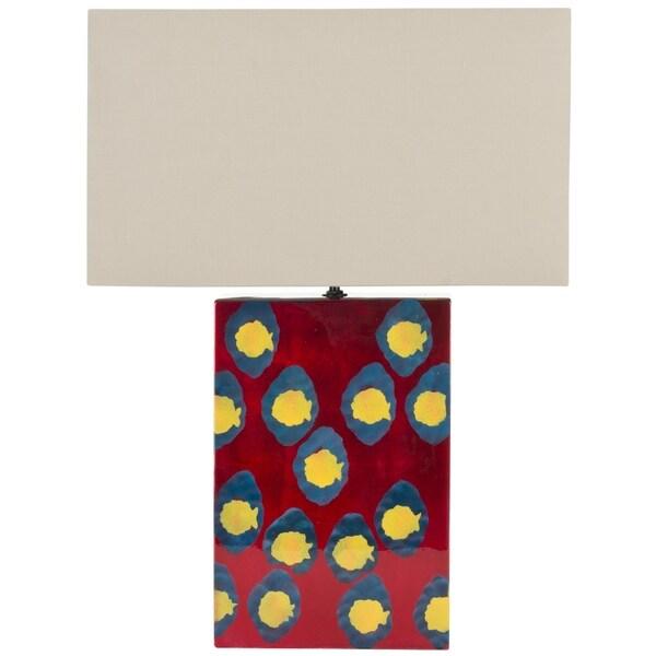 Safavieh Lighting 16.5-inch Dottie Red Table Lamp
