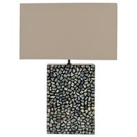 Safavieh Lighting 16.5-inch Athena Blue Mother of Pearl Table Lamp