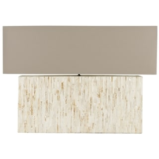 Safavieh Lighting 15.8-inch Ayers Mother of Pearl Tile Lamp