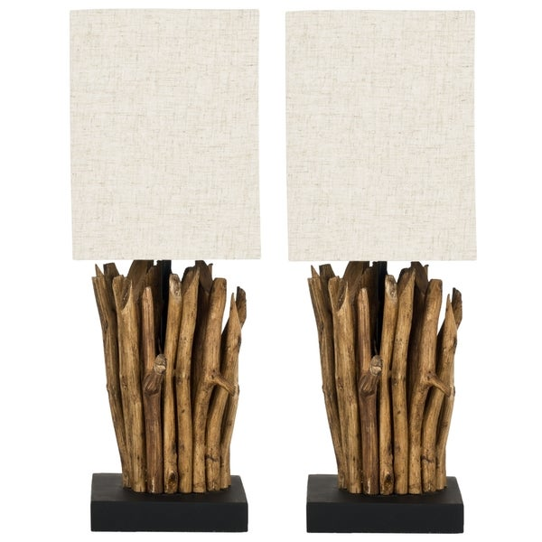 Safavieh Lighting 19.7-inch Aspen Natural Wood Branch Table Lamps (Set of 2)