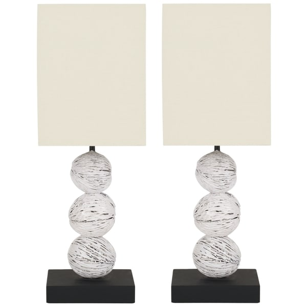 Safavieh Lighting 19.7-inch Samantha White Washed Wood Table Lamps (Set of 2)