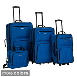 Rockland Deluxe 4-piece Expandable Rolling Upright Luggage Set