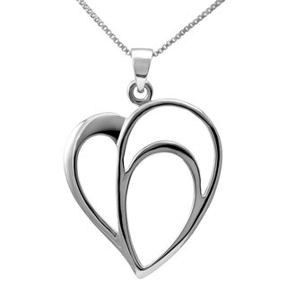 Handmade Sterling Silver Open Heart Necklace (Thailand)
