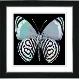 Studio Works Modern 'Zebra Butterfly - Turquoise' Framed Print