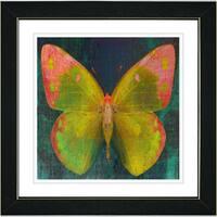 Studio Works Modern 'Citrus Orange Butterfly' Framed Print