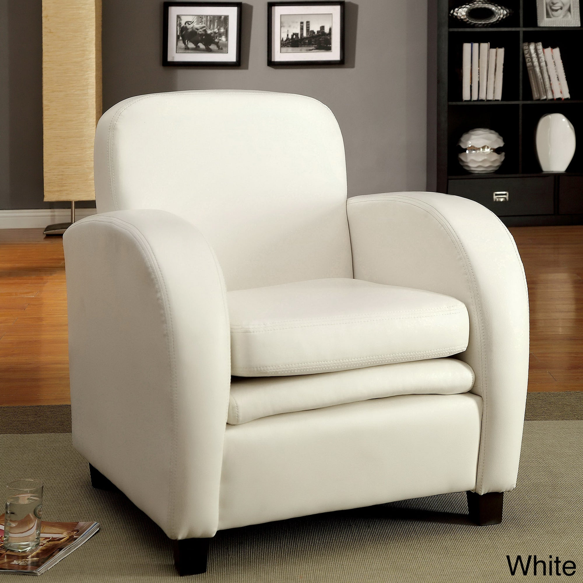 Enitial Lab Furniture of America Double Padded Club Chair...