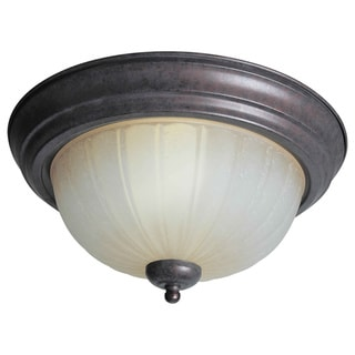 Cambridge 7-inch 2-light Black Cherry Flush Mount