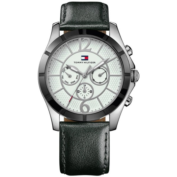 Tommy Hilfiger Men's Chronograph Leather Strap Watch