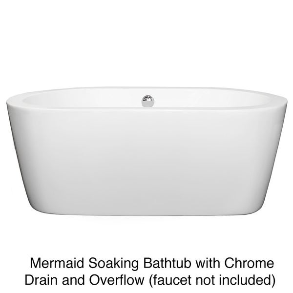 Wyndham Mermaid White Soaking Bathtub