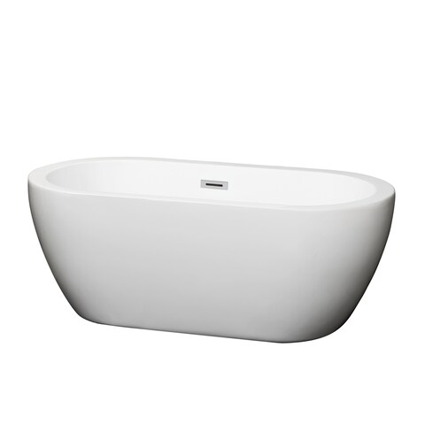 Wyndham Collection Soho White Soaking Bathtub