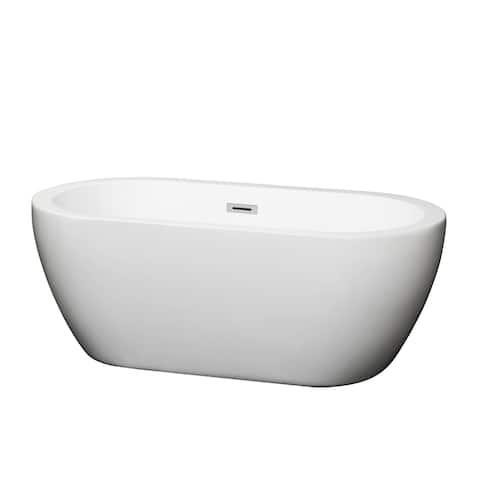 Wyndham Collection Soho White Soaking Bathtub
