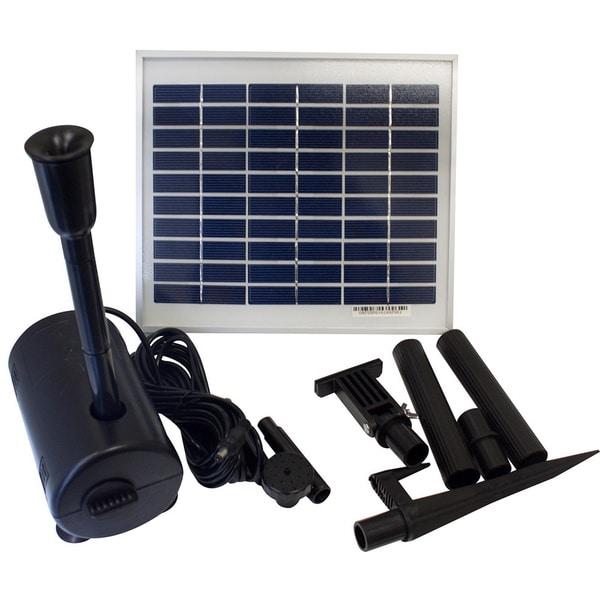 Shop Solar Powered 5 Watt 500 Lph Pond Pool Water Pump Free