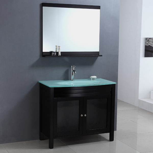 Modern Single Sink Vanity : MTD Vanities Figi 32-inch Single Sink Bathroom Vanity Set with Mirror ...