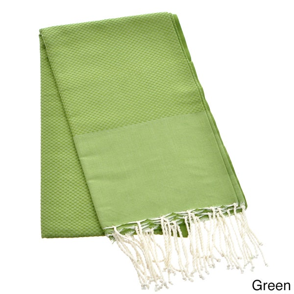 Authentic Fouta Natural Cotton Solid Color Beach Towel (Tunisia)